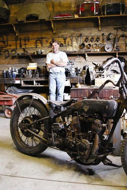 Motorcycle garage #wheelsthroughtime