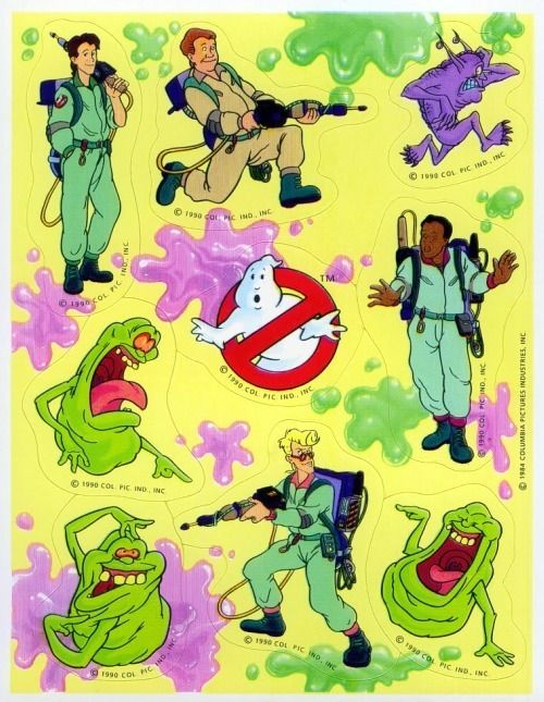 old-school ghostbusters stickers