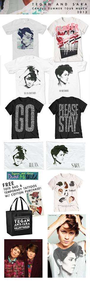 Merchandising Tegan and Sara