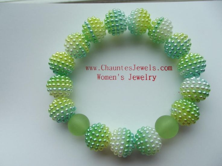 Apple Green Bracelet by Jewelryonthego