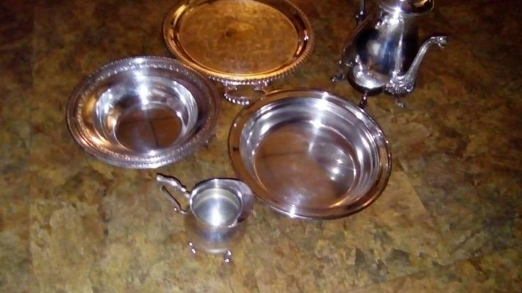 5 Miscellaneous Silver-Plate Antiques Lehman Bros, Sheridan, Forbes, Reed&Barton