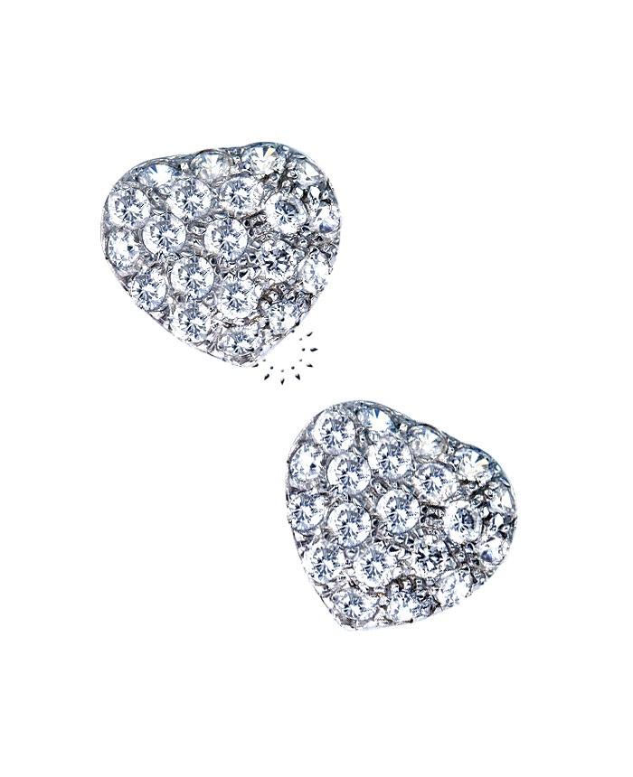 Σκουλαρίκια Καρδιά 14Κ Λευκόχρυσο με Ζιργκόν  221€  http://www.kosmima.gr/product_info.php?products_id=11332
