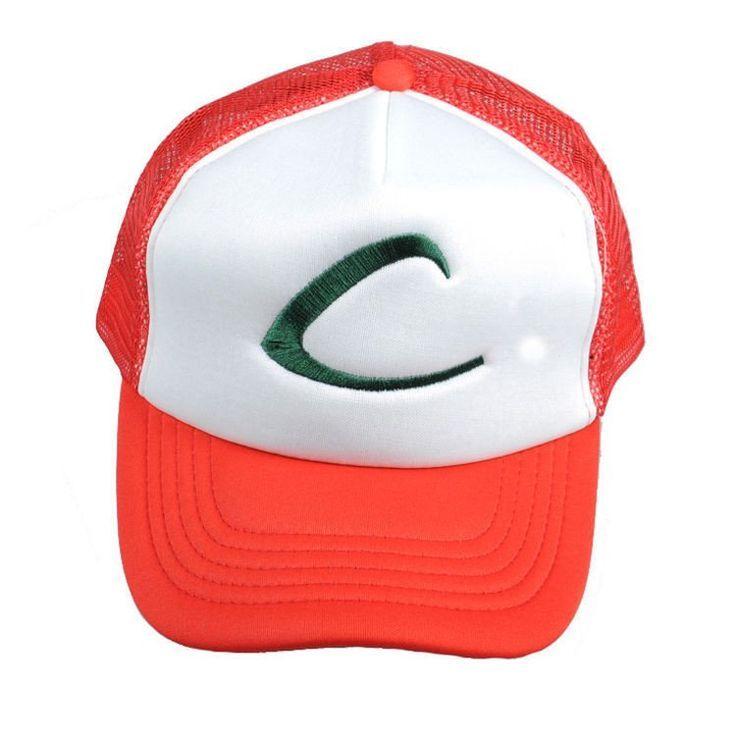 New Visor Cap POKEMON ASH KETCHUM COSTUME Cosplay Hat Baseball cap 1 pcs