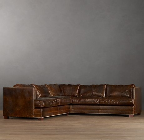 Easton Leather Sectionals - traditional - sectional sofas - by Restoration Hardware : vintage leather sectional sofa - Sectionals, Sofas & Couches