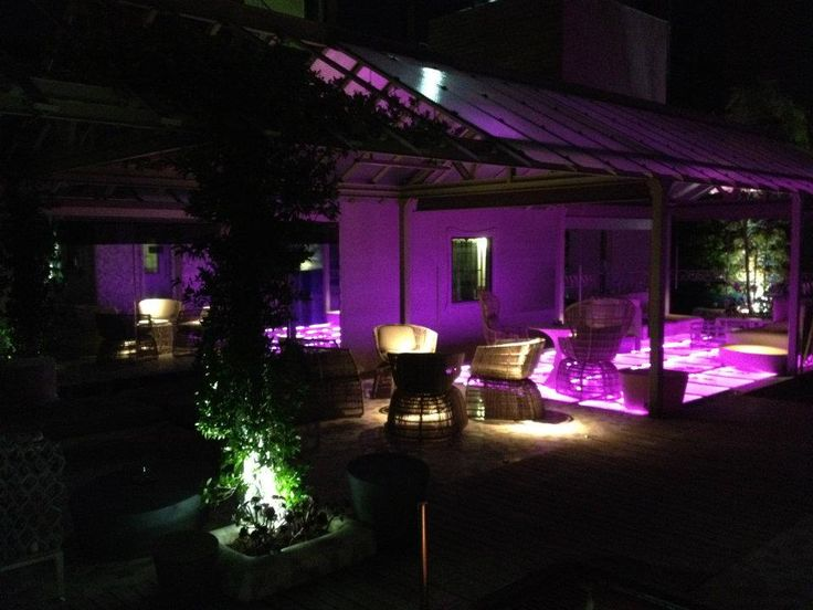 El Palauet Living Barcelona rooftop terrace by night