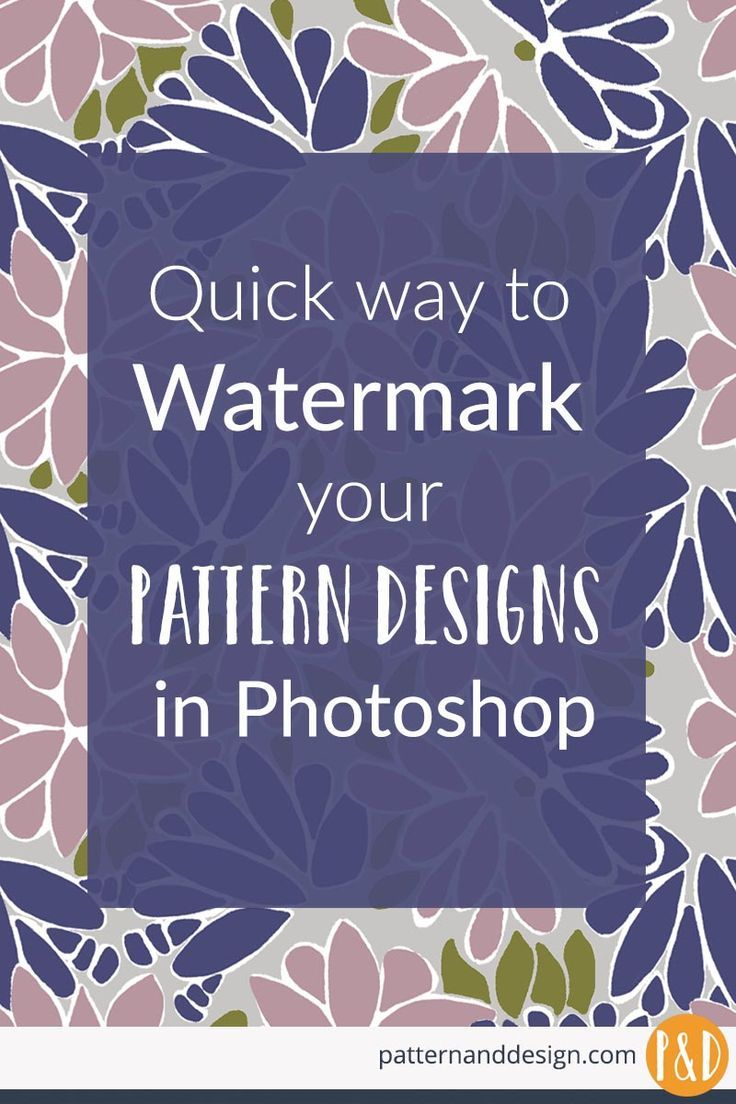 A Quick Way To Create A Watermark For Your Pattern Designs