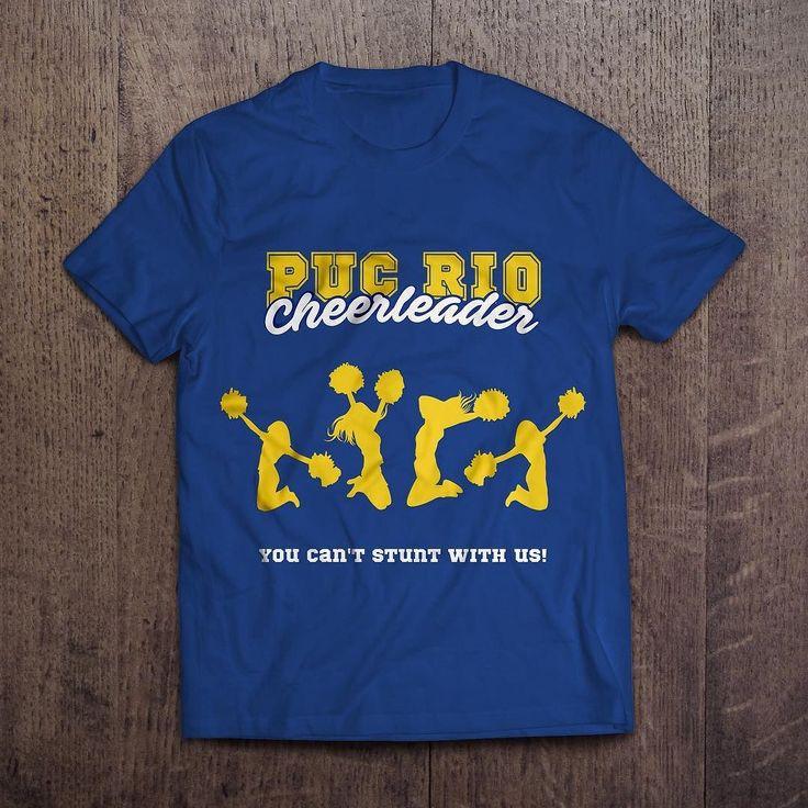 Projeto de ilustração para camiseta de líder de torcida da PUC-Rio.   #design #designgrafico #art #portfolio #ilustração #illustration #camisa #shirt #liderdetorcida #cheerleader #criação #creation #criatividade #pucrio #luanapotydesign by luanapotydesigner