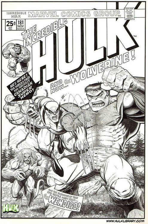 Hulk 181 cover reproduction from Art Adams