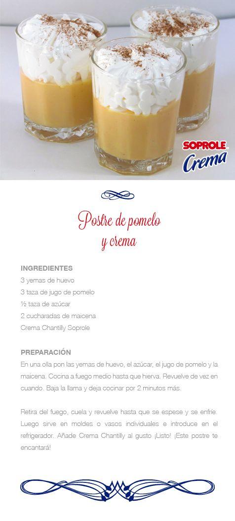 Postre de Pomelo y Crema