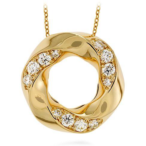 Atlantico Circle Pendant (available in 18k Rose, White and Yellow Gold) #diamonds #AtlanticoCollection | heartsonfire.com