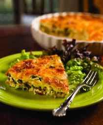 Vegetable breakfast quiche