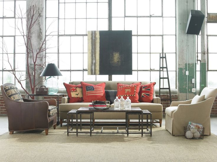 Interior Design Ideas Awesome Industrial Warehouse Window In White Living Room With Brown Retro Sofas