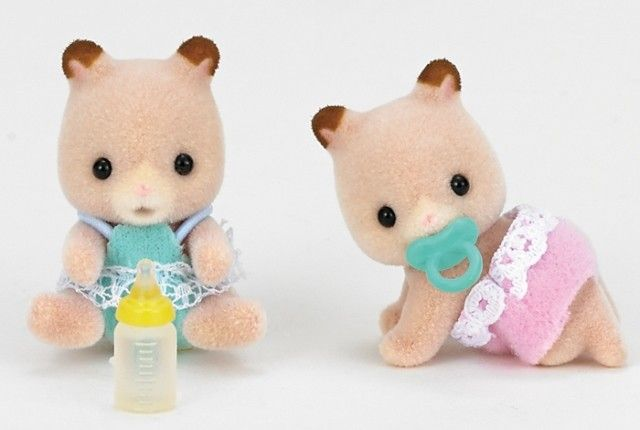 Sylvanian Families - Hamster Twins #pintowin #entropywishlist I would love these to go with the other SF items on my Wishlist