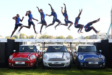 Jump over MINIs.....Track season is coming........da long jump!
