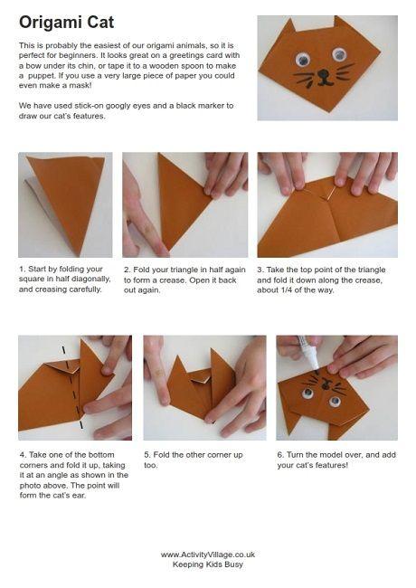 Origami Katze Leistungsschalter ausschalten