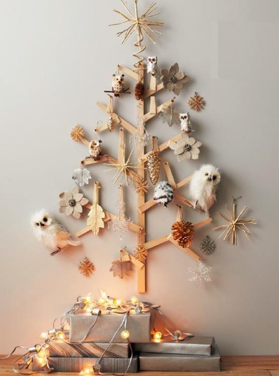 Árvores de natal criativa de parede