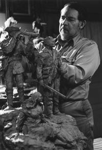 Montana artist Bob Scriver planning his tribute to the Corps of Discovery - now larger than life in Fort Benton