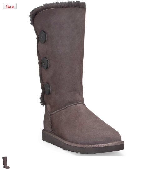 UGG Womens Bailey Button Triplet Boot, The Bailey Collection is an updated style based on the foundation of the Classic Collection. These are the original authentic sheepskin boots made for ultimate comfort and warmth. The Bailey Button ca..., #Apparel, #Boots