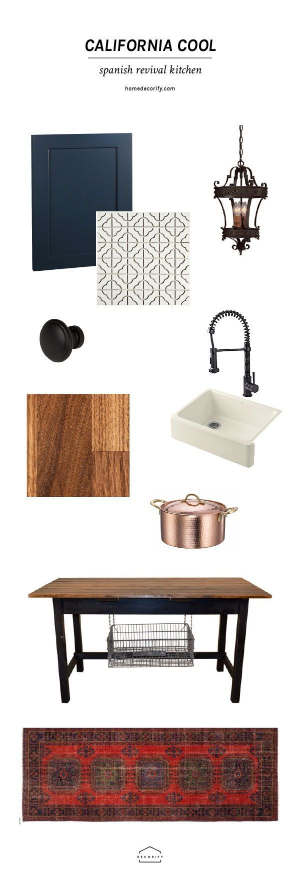 Learn all the key steps in creating a modern, Spanish revival kitchen for your home. Infuse old world Spanish influences with modern colors and lines.