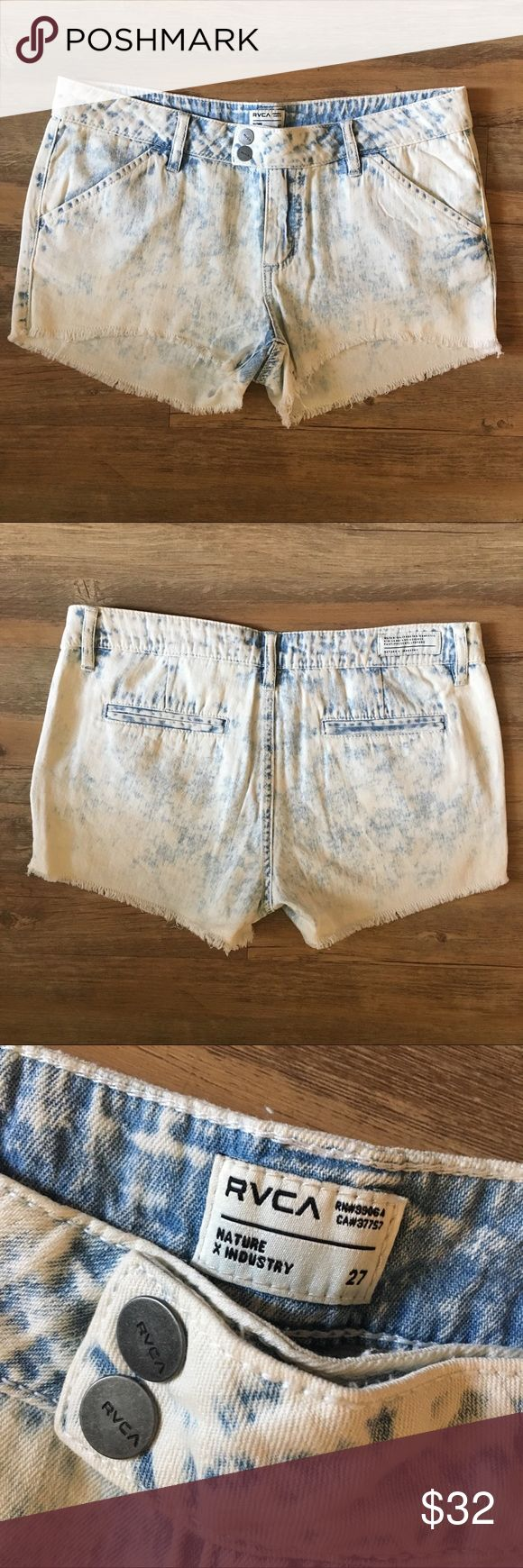 RVCA Acid Wash Shorts NWOT RVCA acid wash shorts, never worn! Would fit best on someone with narrow hips and thin legs. 🛍 Bundles: I offer a 15% discount for bundles of 2 or more items! ❌No Trade RVCA Shorts