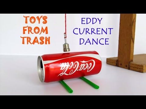 Eddy Current Dance | English | Move a can without touching it - YouTube