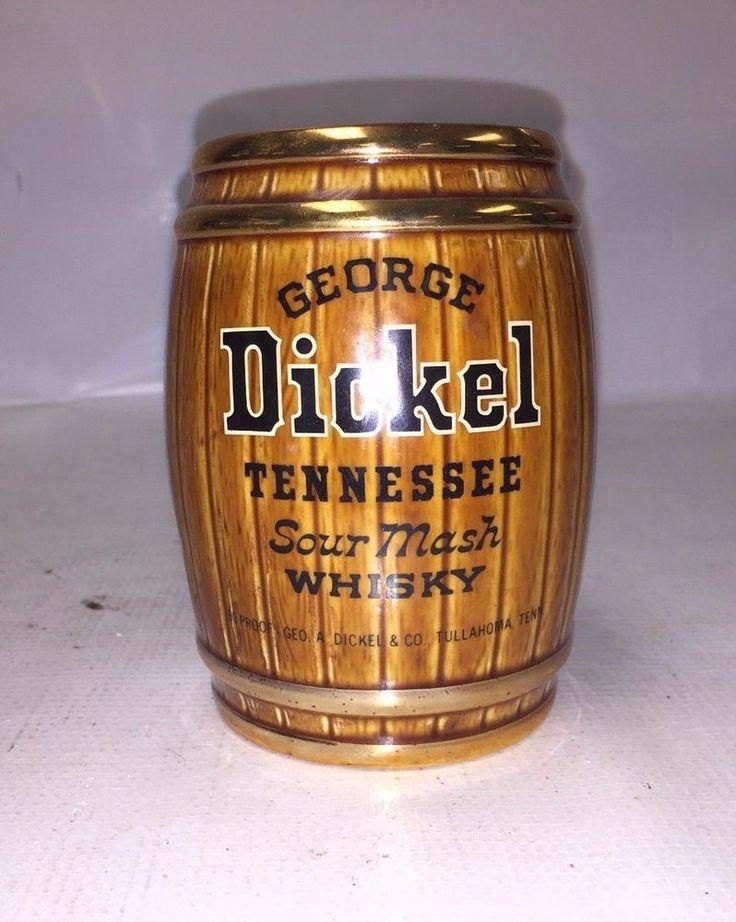 Dickel Whiskey Barrel & Pitcher Set - 1 Pitcher - 3 Barrel Mugs - Great Decor