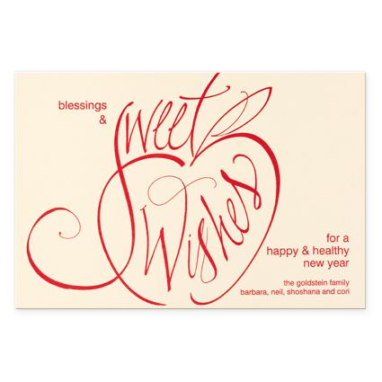 Handwritten Wishes – Jewish New Year Card