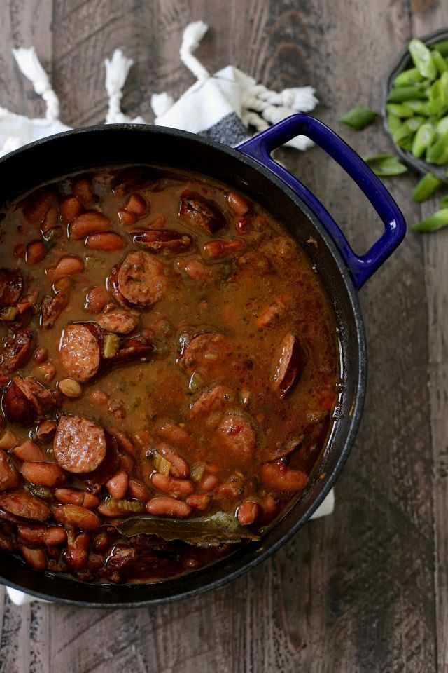 New Orleans Red Beans and Rice - but add a ham hock to the simmering goodness for the love of God...your store has it in the butcher section, you just don't know where to look - ask for help. It's not red beans and rice without the ham hock. Just no.