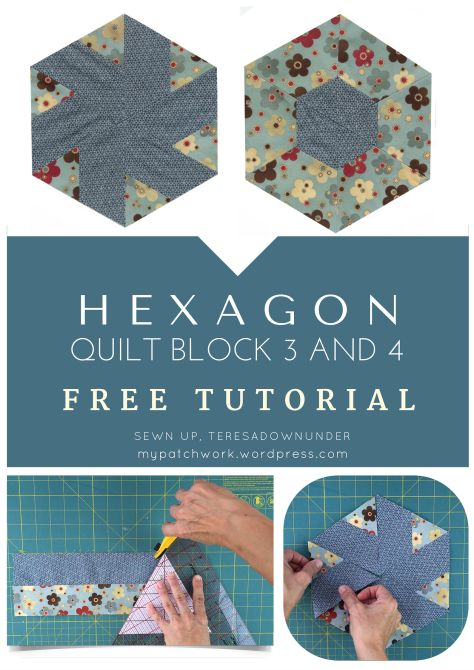 Video tutorial: Hexagon quilt block 3 and 4