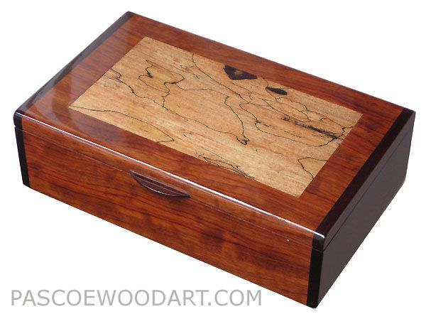 decorative wooden box | Handcrafted wood keepsake box - Decorative wood box  - Bubinga, Spalted