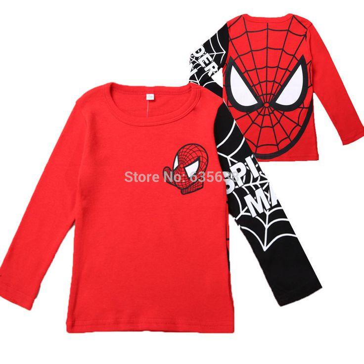 Spiderman long sleeve tee $5.78 from Aliexpress