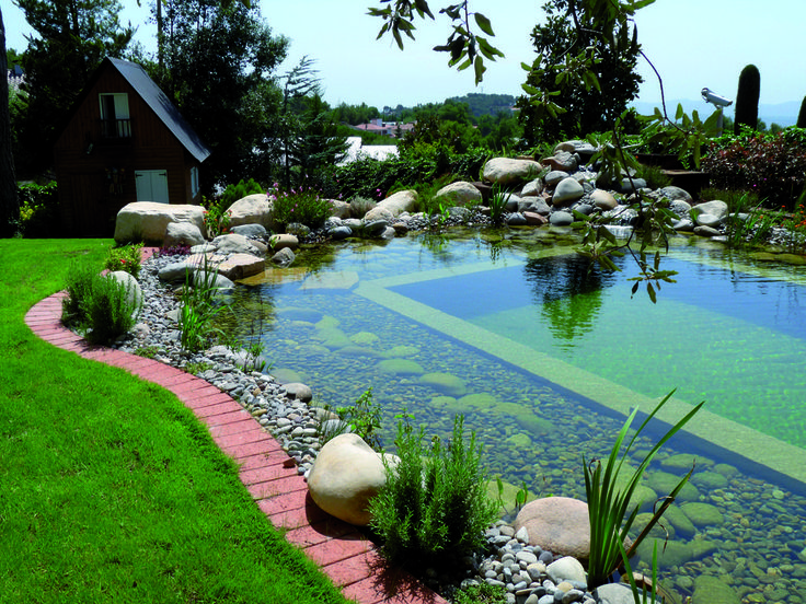 Cool swimming pond.