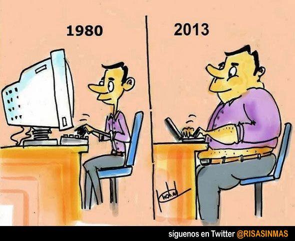 1980 y 2013. Ordenadores y nuestro cuerpo.