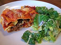 Meat Lasagna Recipe - Makes a great freezer meal.