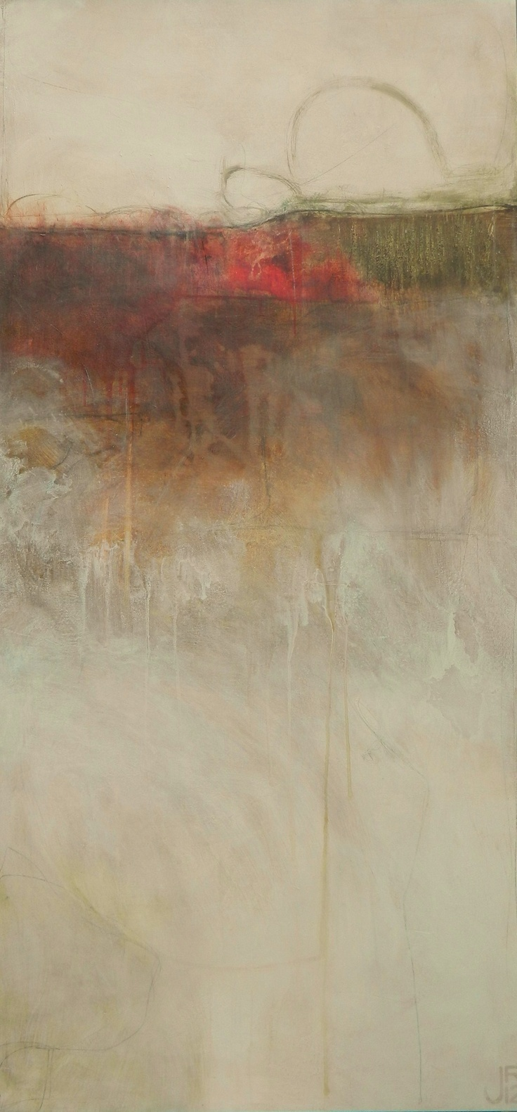 With Autumn Closing In  - abstract painting by Jennifer Rivera