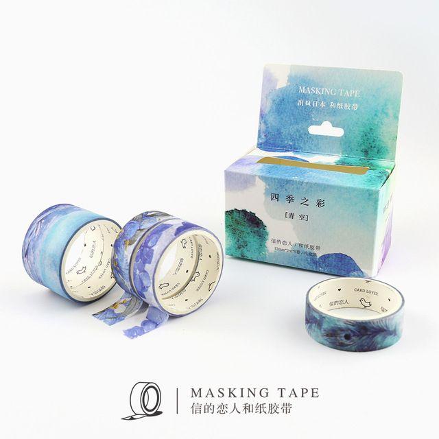 4/5 rollen Japanischen Kawaii Washi Klebeband Geschenk Set DIY Dekorative Klebeband Washi Klebeband Scrapbooking Tagebuch Masking Tape Aufkleber