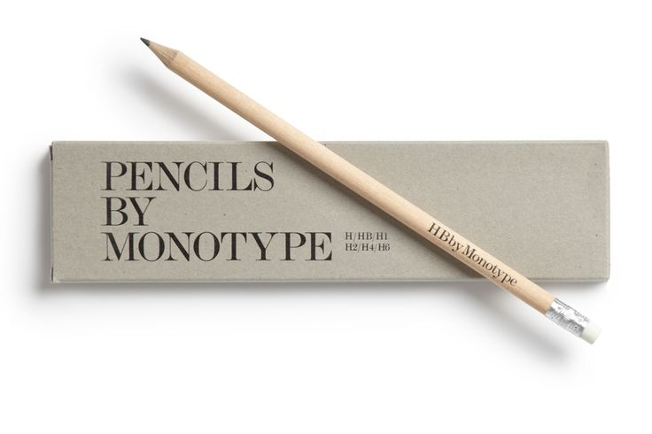 Pencils by Monotype packaging designed by Sea.