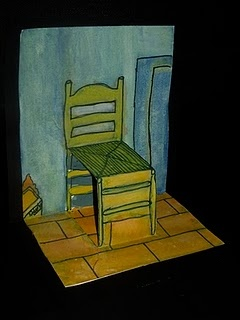 Van Gogh's chair popping off the page. This is great! I wonder how many other famous pieces I can tweak this to fit...? :)