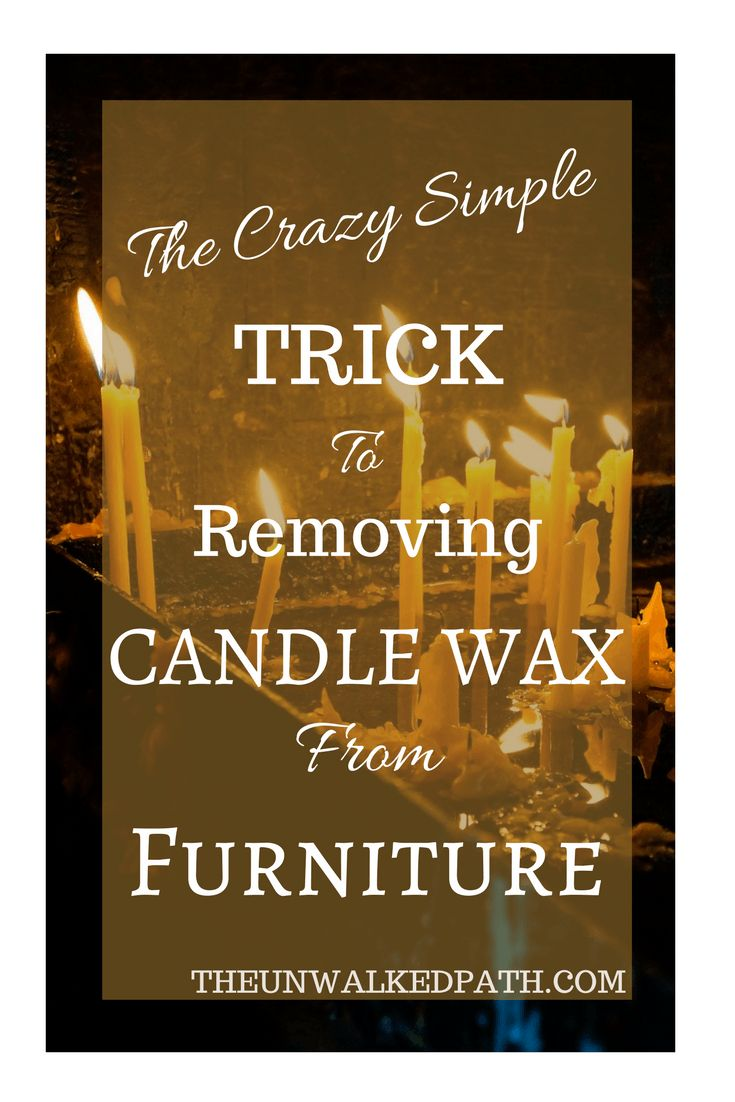 The crazy simple trick to removing candle wax from wood furniture!
