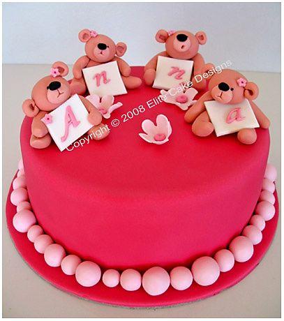 Little Teddies Christening Cake, Christening Cakes Sydney, Christening Cake Designs, Communion Cakes, Baptism Cakes, Baby Christening Cake, NSW