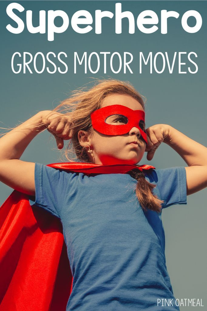 Fun ways to move like a superhero! Gross motor and brain break ideas that are…