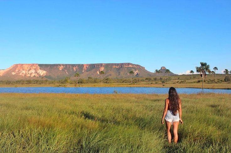 O parque estadual do Jalapão é uma unidade de conservação brasileira de proteção integral à natureza localizada na região leste do estado do Tocantins. É o maior parque estadual do Tocantins e seu território está distribuído pelos municípios de Mateiros e São Félix do Tocantins. A nossa colunista Dayana do @seguindo_viagem esteve lá e compartilhou uma dos cenários mais lindos do Jalapão os chapadões da Serra do Espírito Santo  Saiba mais sobre O Jalapão e outros destinos pelo mundo no site…