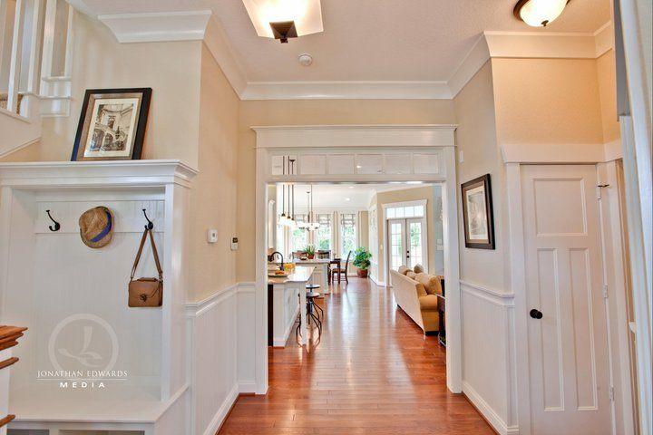 love this foyerTransom Windows, Stephen Alexander, Tours Stephen, Home Tours, Carmel Cottages, Coats Racks, Cottages Entryway, Caramel Cottages, Cottages Home