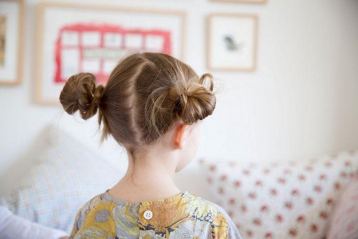 25 einfache frisuren für kleine mädchen, die 2 minuten