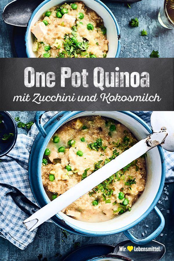 One Pot Quinoa mit Zucchini und Kokosmilch