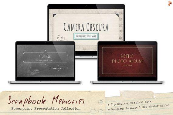 Scrapbook Memories Powerpoint Template Collection by Blixa6Studios