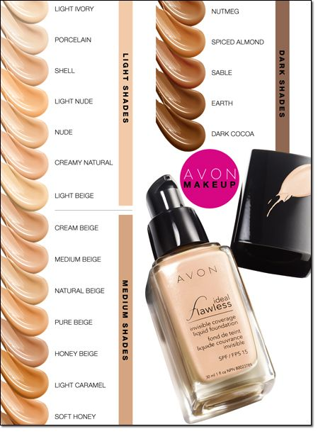 Which Ideal Flawless shade are you? Find a foundation that blends into your skin and looks invisible. Www.avon.uk.com/store/Sally-ball-shop