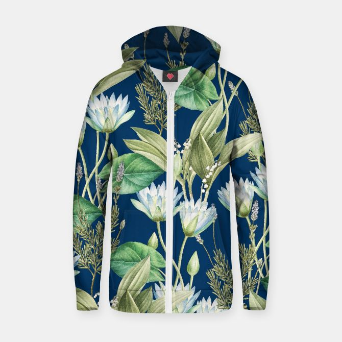 Lilyka V2 Cotton zip up hoodie, Live Heroes