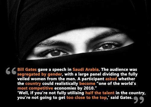Bill Gates gave a speech in Saudi Arabia. The... - Atheist's Blog