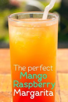 Check out this super easy rendition of the perfect Mango Raspberry Margarita and sip away!
